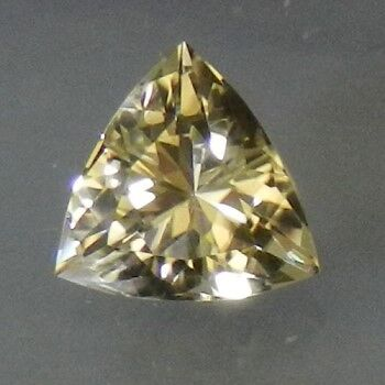 RARE SPARKLING EAST AFRICAN YELLOW TOURMALINE TRILLIANT
