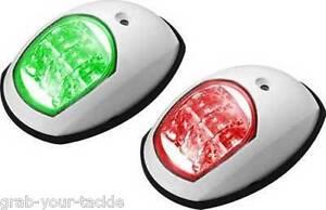 12V-LED-NAVIGATION-LIGHTS-BOAT-PORT-amp-STARBOARD-WHITE-12-volt-p-and-S