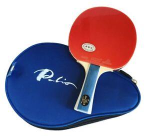 ITTF Approved Beginner Bat Palio Expert 3.0 Table Tennis Racket /& Case