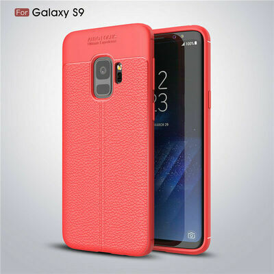 For Samsung Galaxy S4 S5 S6 S7 S8 S9 Shockproof Soft TPU Leather Back Case Cover