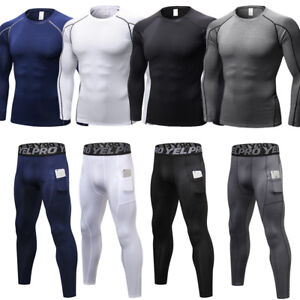 Mens Compression Athletic Base Layer Pants Legging Skin Fit Sports Fitness Gym