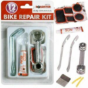 Roadster 12pc Bike Bicycle Tyre Puncture Repair Kit