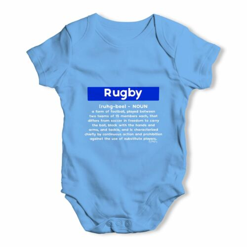 Twisted Envy Rugby Definition Baby Unisex Funny Baby Grow Bodysuit