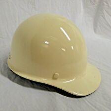 Msa Skullgard Fiberglass Hard Hat Vintage 1981 Off White L 10 Front Brim