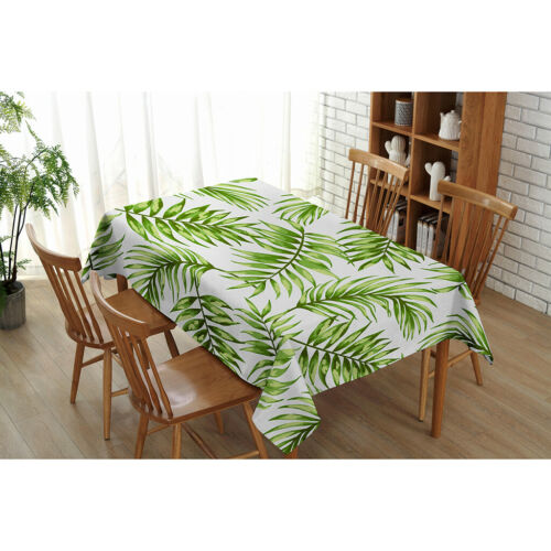 Palm Tree Tablecloth Tropical Plants Dining Table Cover Rectangular /&Square
