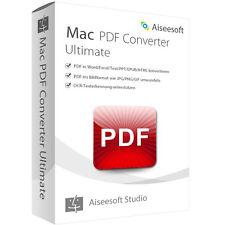 PDF Converter Ultimate MAC Aiseesoft dt.Vollversion Lebenslange Lizenz Download