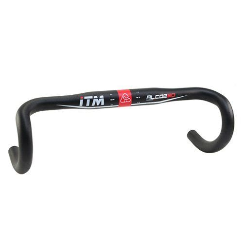 Black 42cm ITM ALCOR 80 Road Bike Alloy Handlebar 31.8x420mm