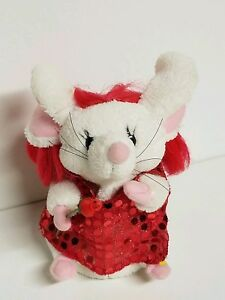 Gemmy-Singing-Dancing-Light-Up-Valentine-Mouse-Female-with-Rose-Sequin-Dress