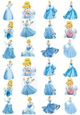 24 Mixed Cinderella Large Sticky White Paper Stickers Labels New