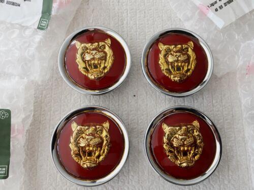 Genuine Jaguar lega ruota centro CAP BADGES NUOVO Ruby /& GOLD MNA6249CB NUOVO