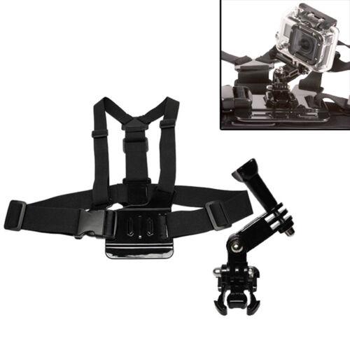 MaximalPower GoPro 3-Way Arm Elastic Chest Strap with 3-Way Adjustment Base