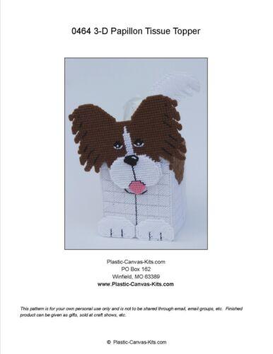 Papillon 3-D Dog Tissue Topper-Plastic Canvas Pattern or Kit