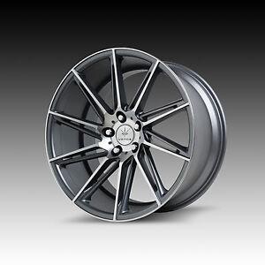 Verde-Quantum-8-5-amp-9-5x19-5x114-3-Felgen-Lexus-IS-LS-Ford-Mustang-Concave-Serie