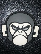 ANGRY MONKEY HEAD FACE RUBBER PVC MORALE  DARK VELCRO® BRAND FASTENER PATCH