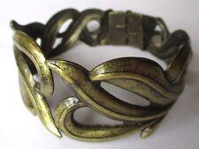 bracelet rigide en cuivre bijou style vintage ouverture centrale 3531