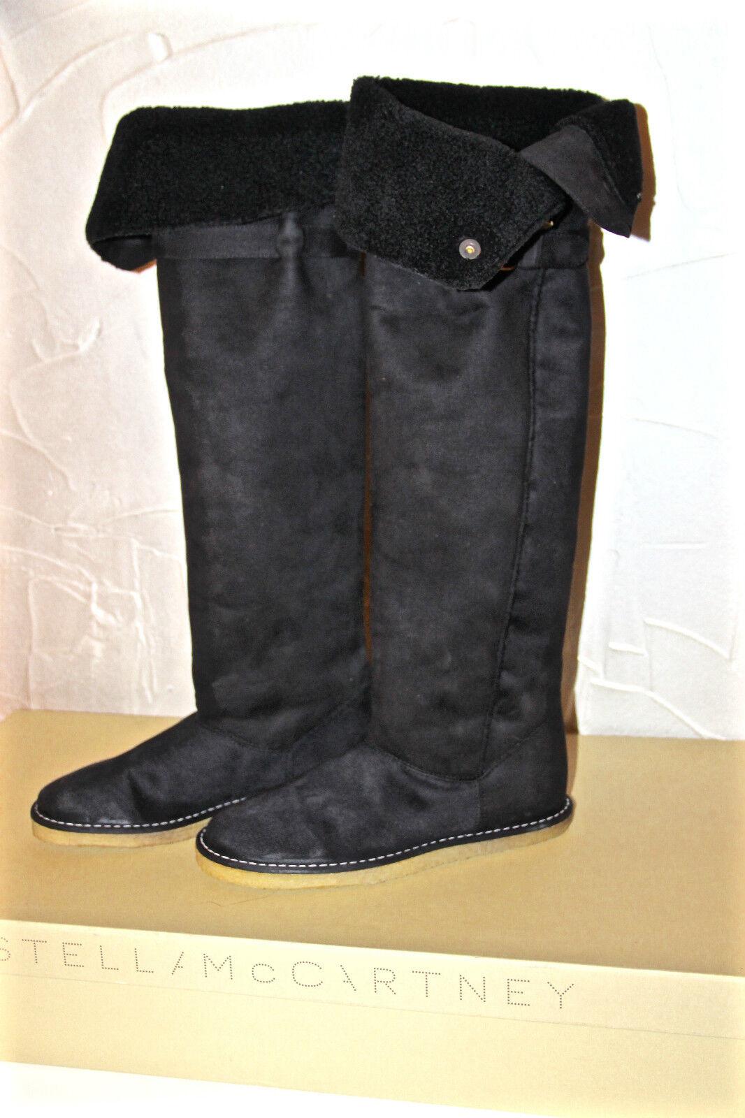 Stiefel Stiefel Alcantara Schwarz Stella Mc Cartney Kickapoo Größe 40 Neue Wert