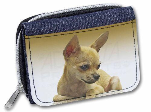 AD-CH31JW Chihuahua Girls//Ladies Denim Purse Wallet Christmas Gift Idea