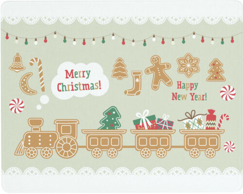 Vance 15 X 12 Christmas Gingerbread Train Surface Savr Tmprd Glass Cutting Board