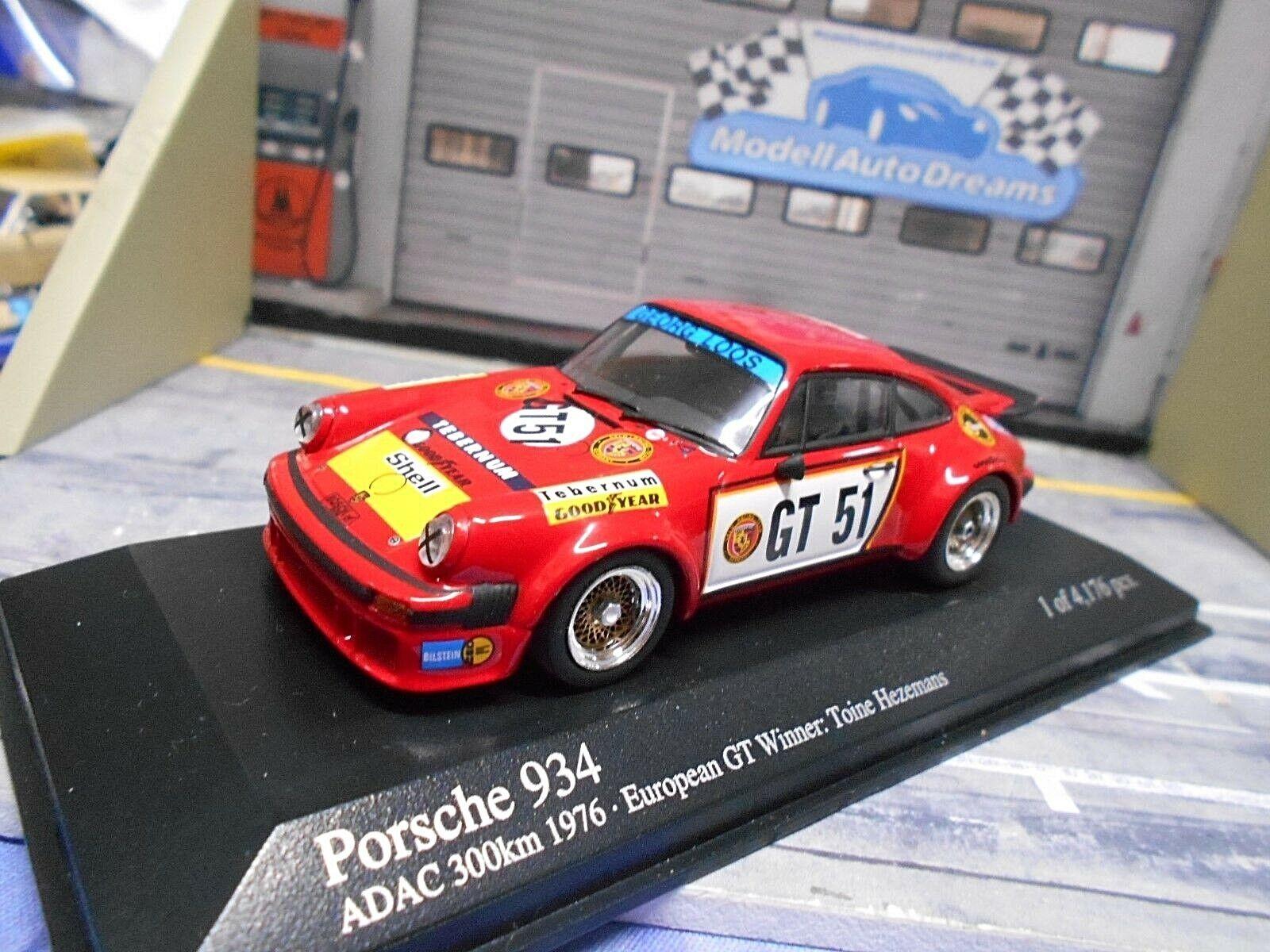 PORSCHE 911 934 1976 Nürburgring Hezemans Loos GT 51 Gelo DRM Minichamps RA 1 43