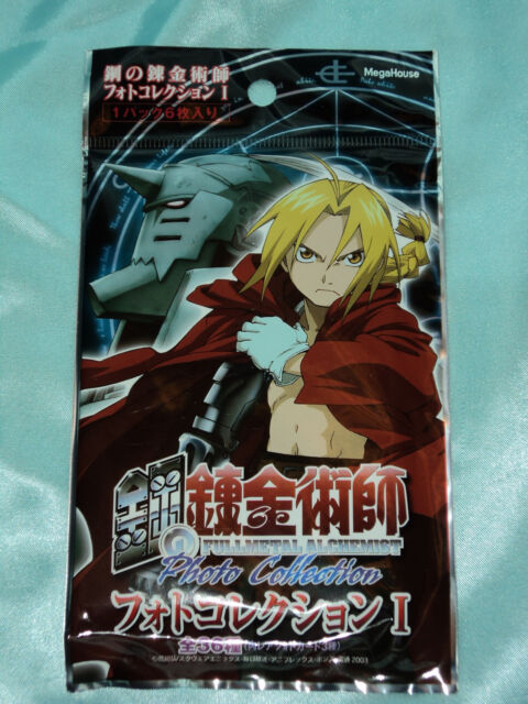 MEGAHOUSE 2003 FULLMETAL ALCHEMIST PHOTO COLLECTION SERIES 1 TRADING CARDS PACK