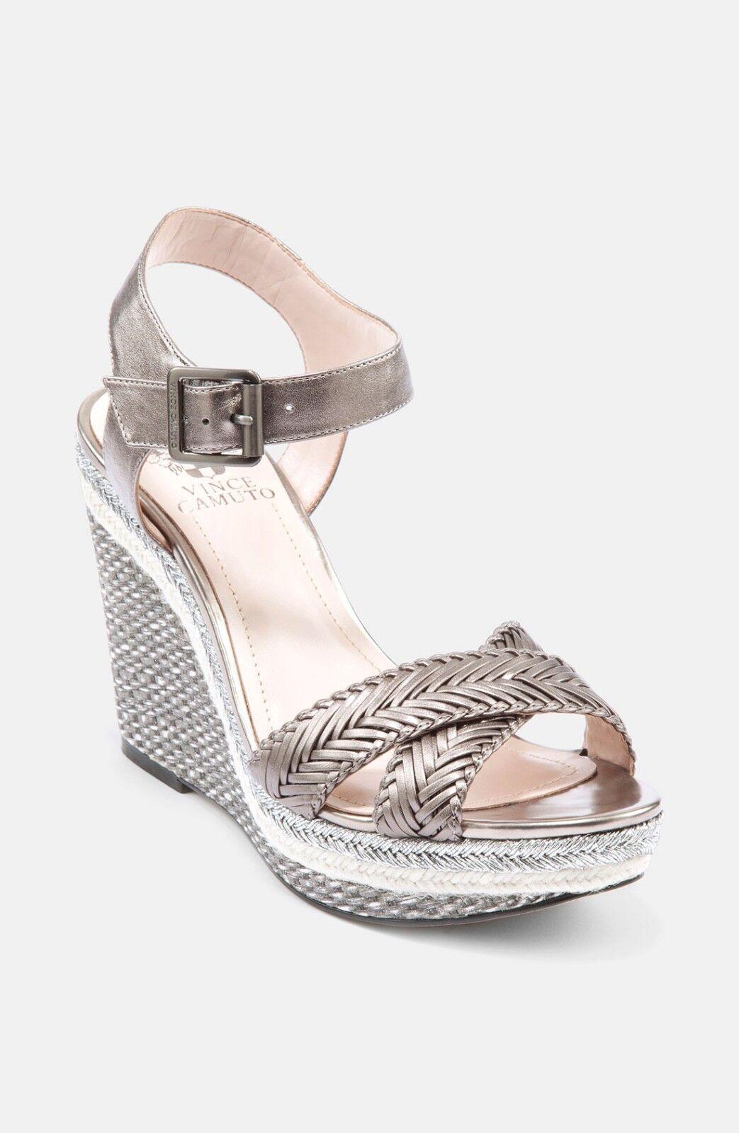 VINCE CAMUTO Silver Tadeta 2 2 2 Sandale Leder  Wedges Sz 10 f87606