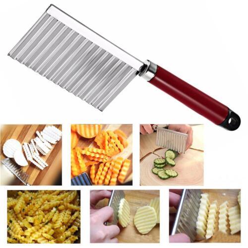Bordée de pommes de terre Couteau de cuisine en acier inoxydable Wavy Gadget SP