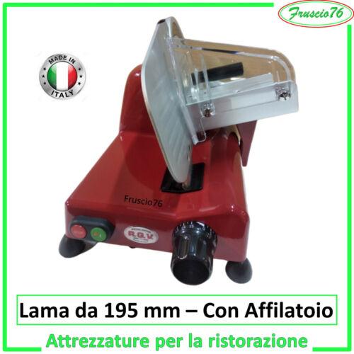 con Affilatoio per Affila Affettatrice Elettrica LAMA da 195 GL Lusso RGV ROSSA
