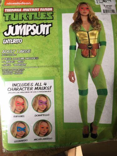 NWT Details about  /Adult Teenage Mutant Ninja Turtles Jumpsuit Costume Large 10-12