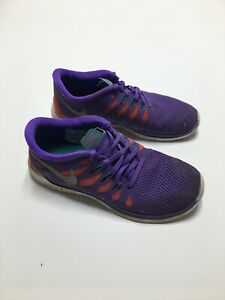 Juniors NIKE FREE 5.0 GS Purple Trainers 644446 500