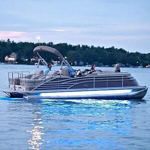 Details About Led Under Deck Pontoon Boat Light Kit Ice Blue