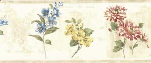 Wallpaper-Border-Red-Yellow-Blue-Wildflowers-on-Cream-with-Beige-Trim