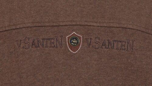 Novità L Cotone Cardigan Van Taglia Marrone Nylon Santen Cardigan IwH7q8x