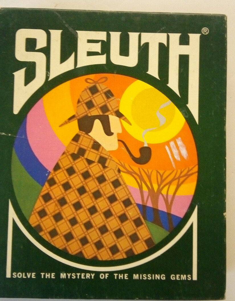 Vintage SLEUTH card game--3M  gamette --complete, great condition