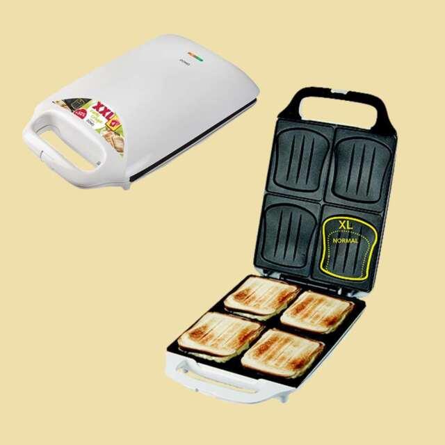 Domo XXL Sandwichmaker/Sandwichtoaster DO 9064 C - Muschelform - 4 Sandwiches