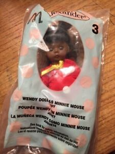 Wendy-Doll-as-Minnie-Mouse-Toy-Madame-Alexander-McDonald-039-s-Happy-Meal-Sealed