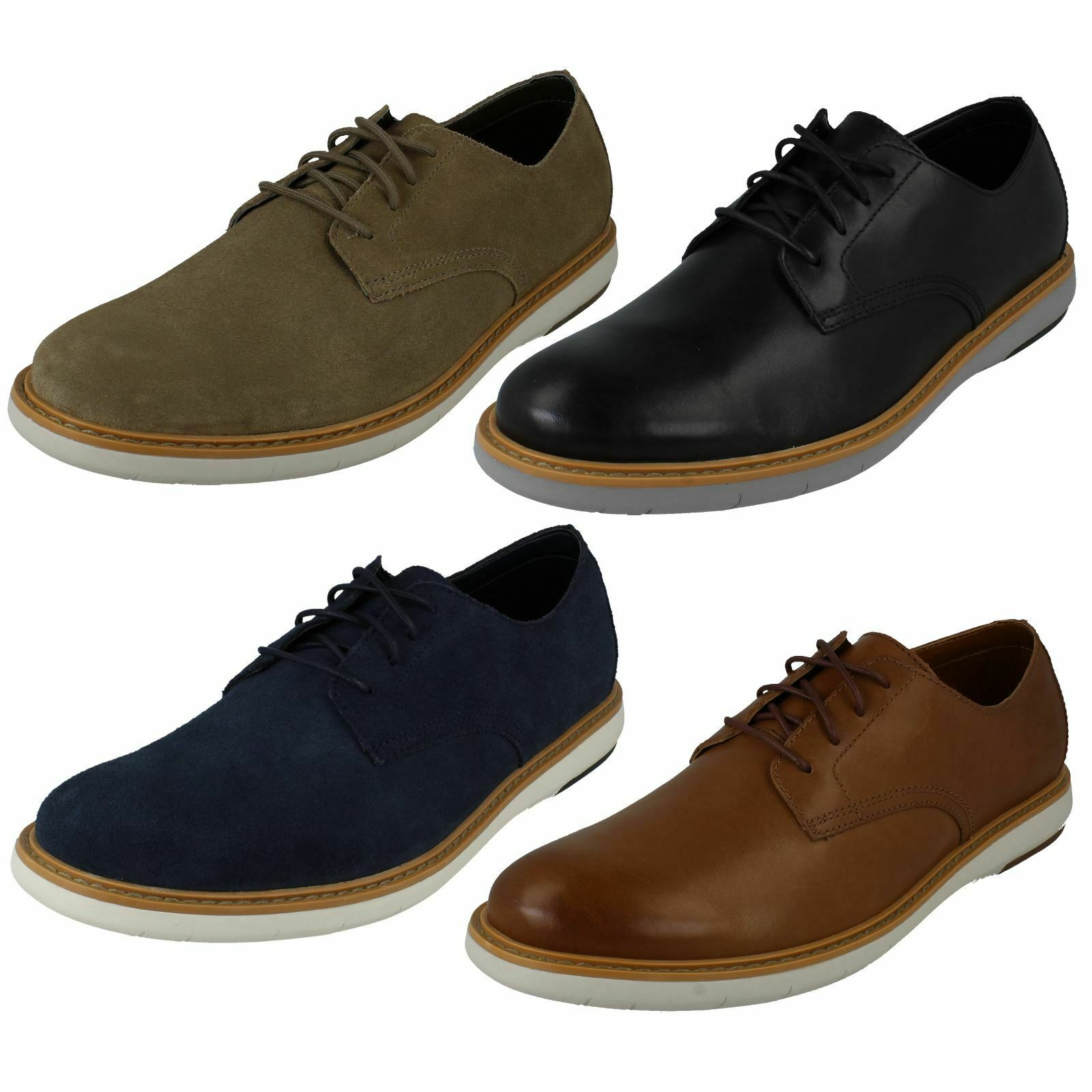 Mens Clarks Casual Lace Up schuhe - Draper Lace