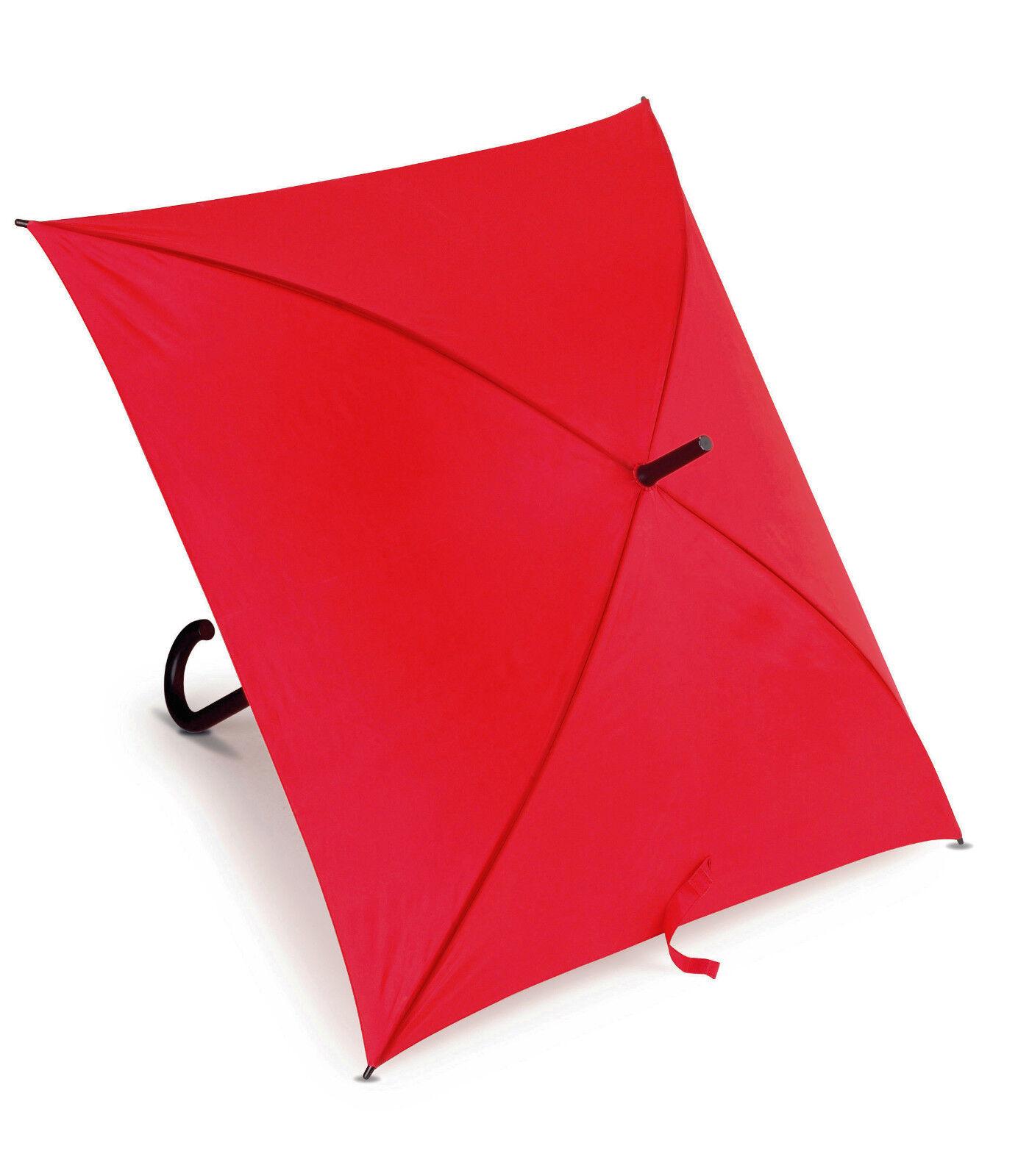 2 Square Wedding umbrellas. Plastic crooked handle & metal shaft & ribs. 111cmØ