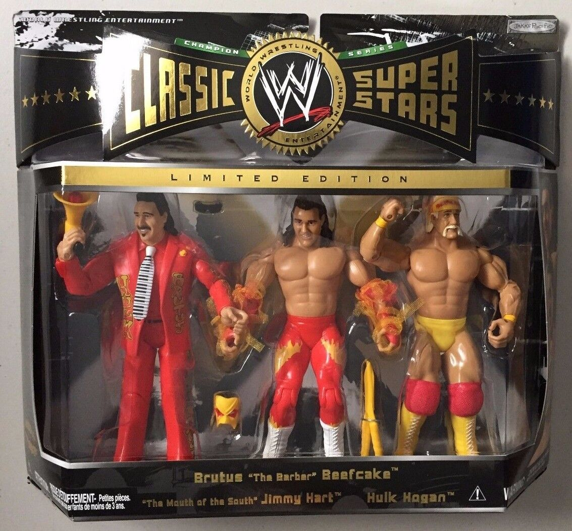 WWE Classic Superstars Exclusive HULK HOGAN BRUTUS BEEFCAKE JIMMY HART WWF