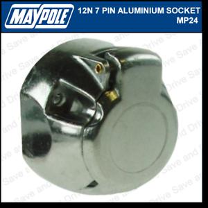 Maypole 12N Metal 7 Pin Socket Towing Trailer Caravan Electrics Aluminium MP025