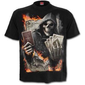 Spiral-Direct-ACE-REAPER-T-Shirt-Cards-Skulls-Poker-Metal-Biker-Skulls-Unisex