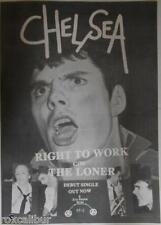 CHELSEA Gene October Right To Work/The Loner Official Iconic UK Punk Rock POSTER