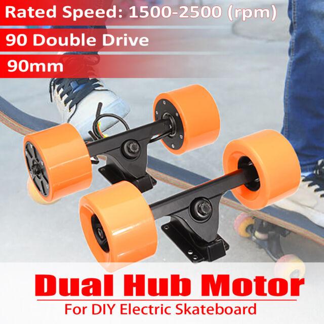 90mm Brushless Dual 6364 Hub Motor Drive Part For Electric Longboard Skateboard
