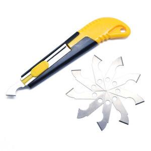 Acryl-Plastikblatt-Plexiglas-Schneider-Haken-Ausschnitt-Werkzeug-10Ersatz-Blatt