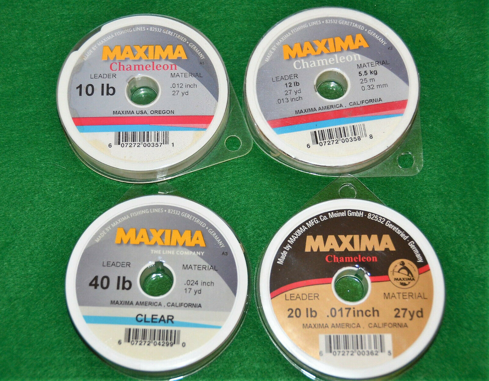 Maxima Leader Wheel 10 12 15 20 Lb Test Fishing Line Chameleon Choice of Weight