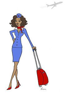 african american diva flight attendant woman cards and envelopes