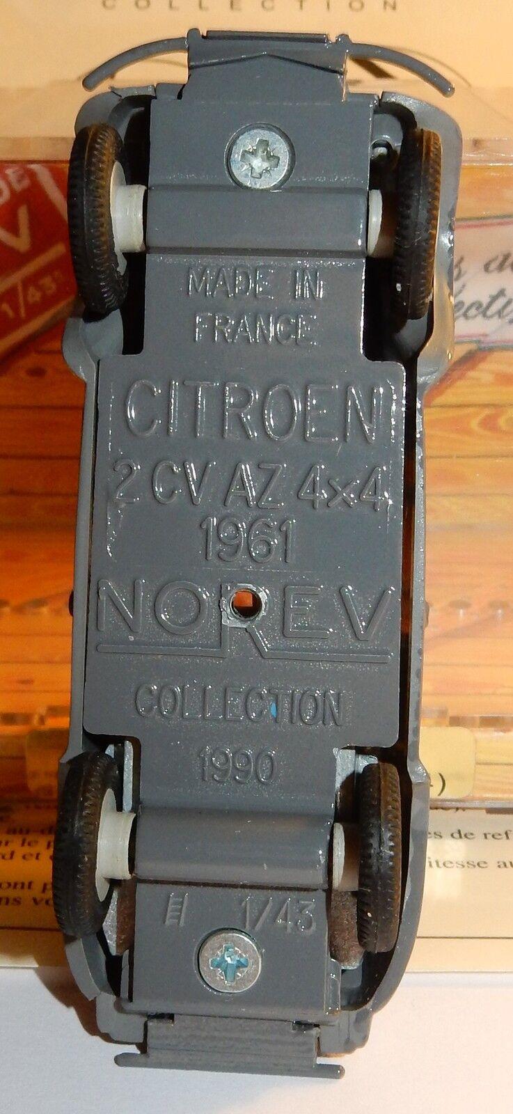 OLD MADE IN IN IN FRANCE NOREV CITROEN 2CV SAHARA 4X4 1961 GREY DARK IN BOX 1 43 b176d3