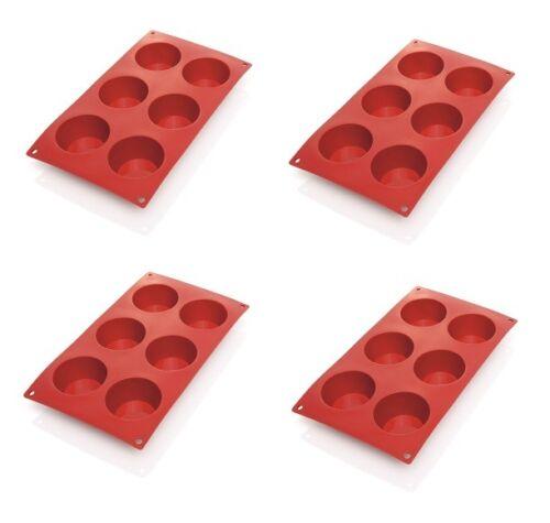 muffin Moule backförmchen en silicone avec 6 formes 4x Moule