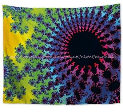 bedroom accent wall psychedelic trippy wall hanging tapestry US SELLER