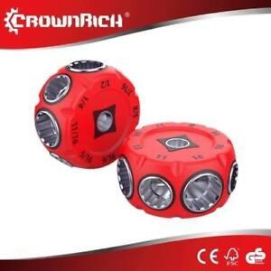 THORSEN-3-8-034-Drive-RATCHETING-PUCK-WRENCH-8-Sockets-12-pt-Spline-Metric-amp-SAE