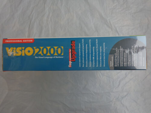 New!Factory sealed retail box Visio 2000 Professional Upgrade